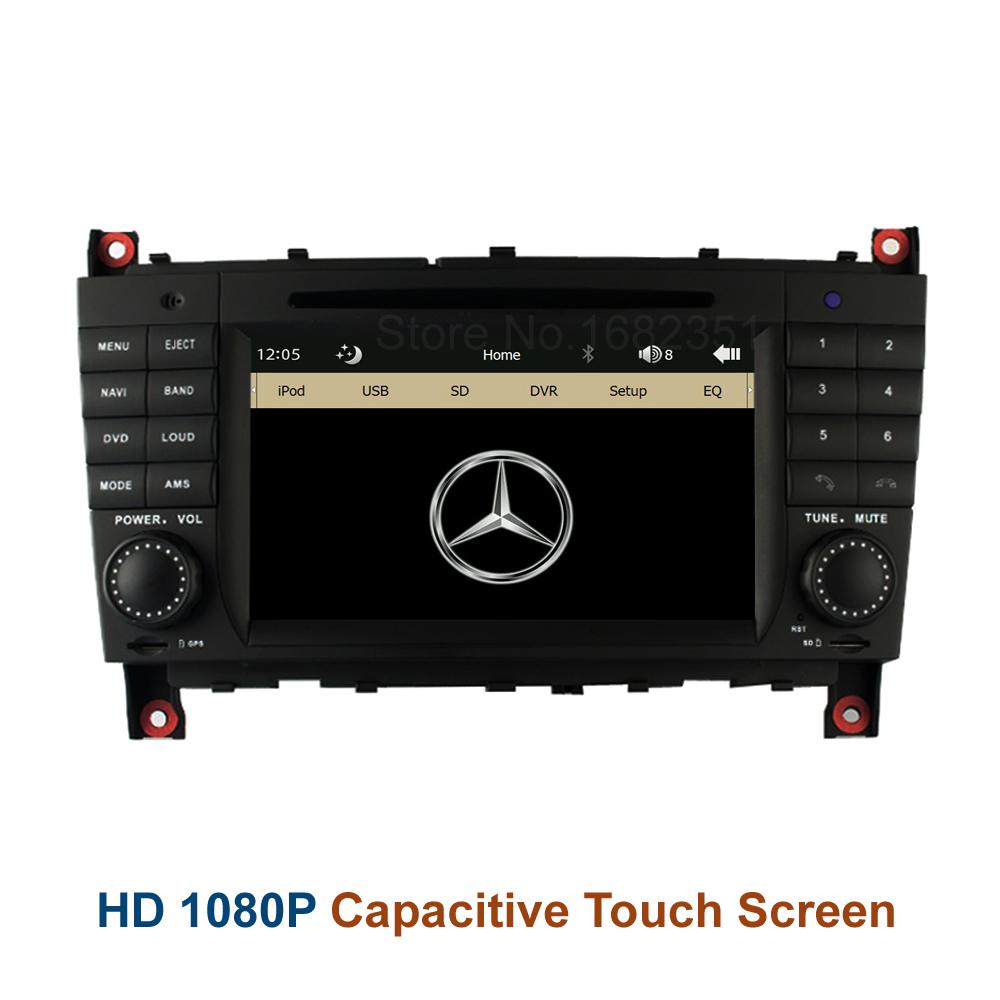 Original Car DVD Radio Player GPS for Mercedes/Benz W219 W209 W203 CLK C200 C230 C240 C320 C350 + Canbus 8GB fee map card(China (Mainland))