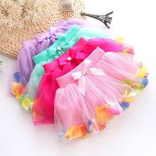 New Arrival Summer Baby Girls Chiffon Tutu Skirt Cute Princess Party Sparkle Fluffy Pettiskirts Kids Silk Ballet Skirts Ly34