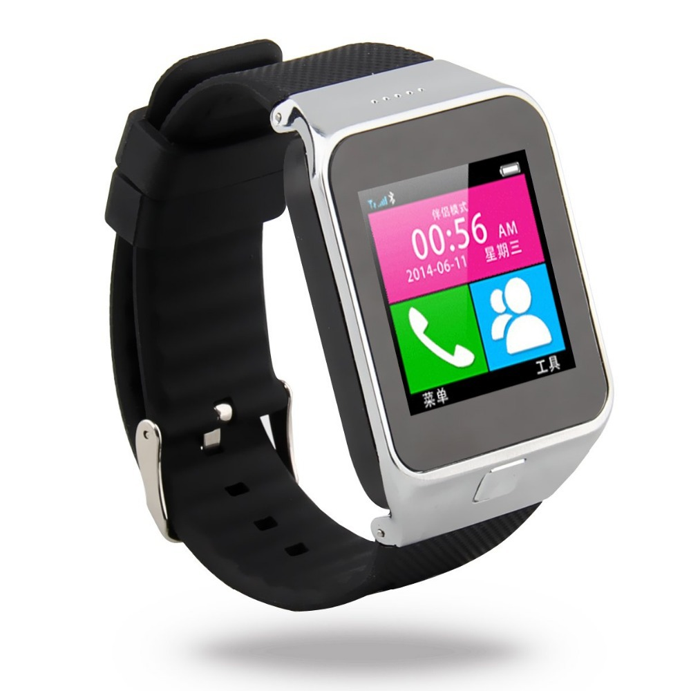 1.54 inch LCD Bluetooth Smart Wrist Watch Phone Mate Pedometer Sleep Monitor SIM FM Selfie Shutter Sync for IOS Android free(China (Mainland))