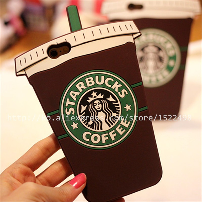 Phone Bags & Cases3 d coffee cup for silicone iphone6plus protection shell-03 S0001 coffee(China (Mainland))