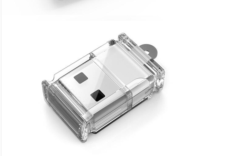 New 2015 Exquisite transparent Mini USB 2.0 Micro SD TF Memory Card Reader Adapter(China (Mainland))