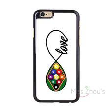 For iphone 4/4s 5/5s 5c SE 6/6s 7 plus ipod touch 4/5/6 back skins mobile cellphone cases cover Cool Billiards English Design