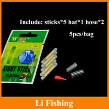 fishing tackle 40pcs 4.5mm*37mmnight fishing float bobber glow stick light stick luminous stick fishing float
