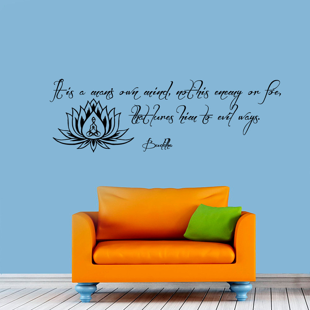 Art Wall Decals Vinyl Removable Living Room Quote And