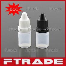 Wholesale 100pcs/lot 5ml White Plastic Dropper Bottles Liquids Eye Drops Bottle for (China (Mainland))