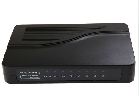 Top Selling VoIP ATA FXS gateway 4 FXS ports to PBX Trunk Asterisk IP PBX HT842R(China (Mainland))