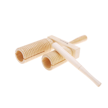 Wooden Musical Early Educational Percussion Tool Toy for Child Kid Baby with Mallet Two Tones(China (Mainland))