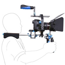 Buy Professional Camera Rig Shoulder Stabilizer Movie Film Support Kit Follow Focus Matte Box Canon Nikon Sony SLR DSLR Camera for $217.89 in AliExpress store