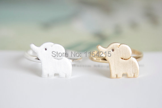 Min 1pc-Gold/silver/rose gold cute elephant rings,cool rings,cute rings EY-R202(China (Mainland))