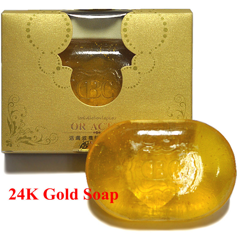 (5pcs/lot) 24K Gold Beauty Soap with Essential Oil for Revitalizing and Repairing Skin<br><br>Aliexpress