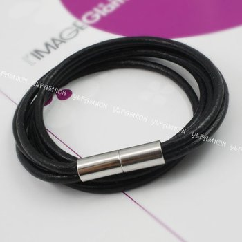 Горячая распродажа бесплатная доставка плетеный воск шнур магнитный браслет мода ...