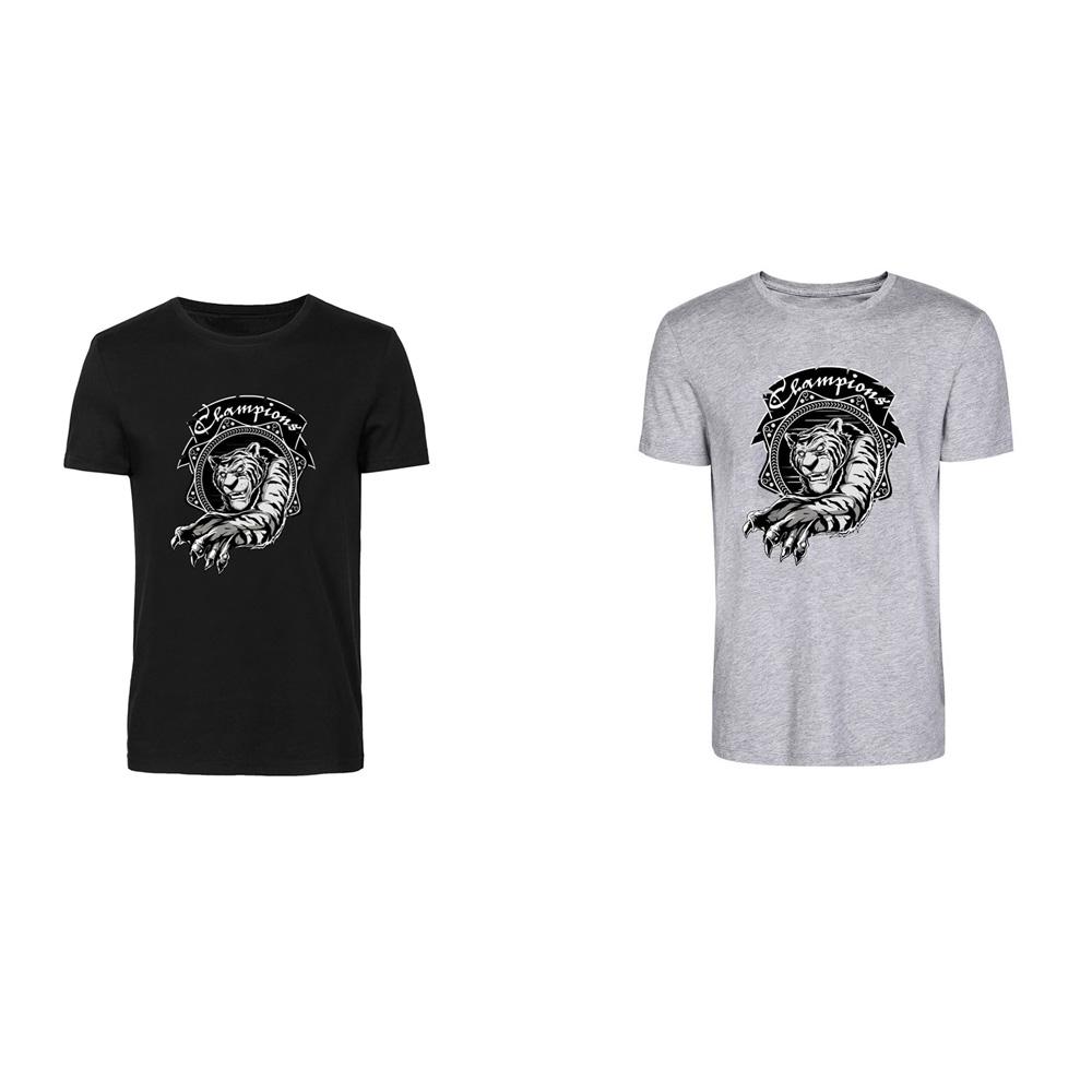 2015 Camisa Masculina Sport Animal Shirt A001 Young Digital Combed Cotton With Tiger Pattern T-shirt Short Tops Mens Summer Tees(China (Mainland))