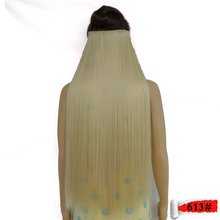 blonde hair extensions clip in extensiones haar extension synthetic super long expression straight secret 613# 28inch