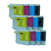 12pcs/Set For Brother Compatible Ink Cartridge LC51 LC57 LC1000 LC960 LC970 LC37 LC10 Fit For Brother MFC-5460CN MFC-5860CN