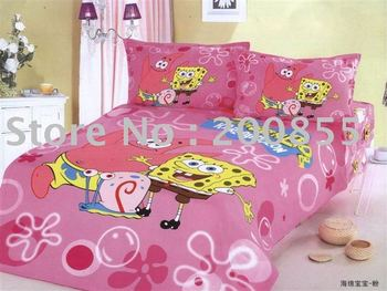 wholesale cartoon Printed Bed Bedding set Gift Mix Order Drop Shipping 050602