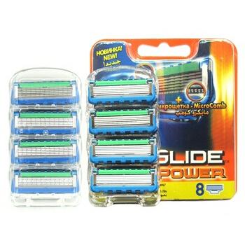 Best quality Brand 16pcs/lot F Proglide Power 5 layer Epilator shaver blades Men face Shaving for Razor Blades Original package(China (Mainland))