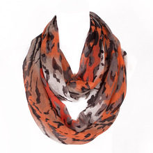 2016 The Most Popular Style Novelty Ring Women Scarf Loop Infinty Scarves Black Stripe Print Size 180*50cm No.07101(China (Mainland))