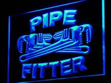 j097-b Pipe Fitter Tools Display Shop LED Neon Light Sign Wholesale Dropshipping(China (Mainland))