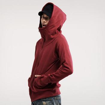 Толстовки мужчин 2015 зима-мужчин футболка подростка свободного покроя кардиган с капюшоном пиджак осеннее пальто тонкий сплошной цвет молния толстый