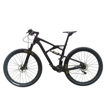 22 speed 29er full suspension frame fork carbon mountain complete bike with oil/disc brake D881 Hub(China (Mainland))