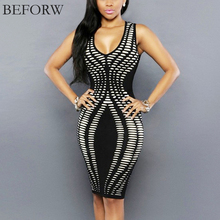 Buy BEFORW Sexy Women Dress Fashion Casual Summer Sleeveless Dresses Office Printing Sexy Slim Tight Nightclub Party Dress Plus Size for $8.33 in AliExpress store