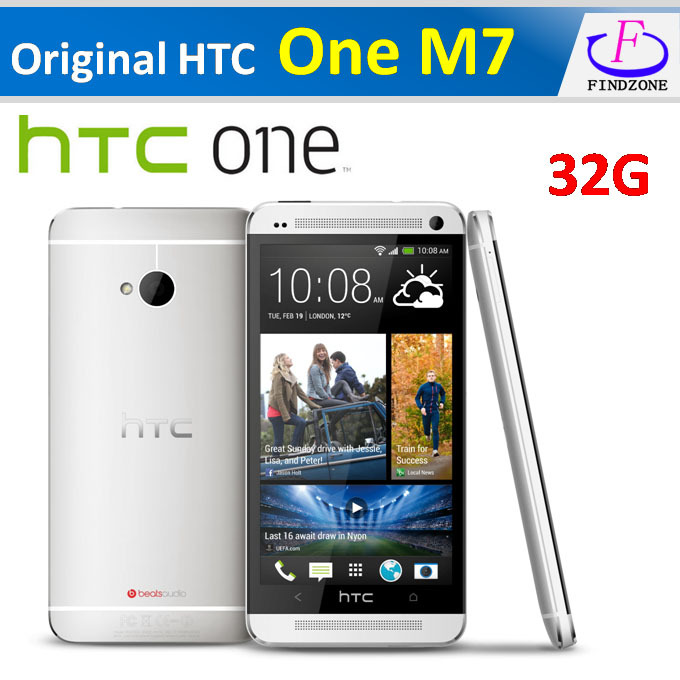 Hot Original HTC One M7 Android 4.4.2 sense 6.0 32GB Quad-core 1.7GHz 4.7''1920x1080 NFC, Refurbished phone(China (Mainland))