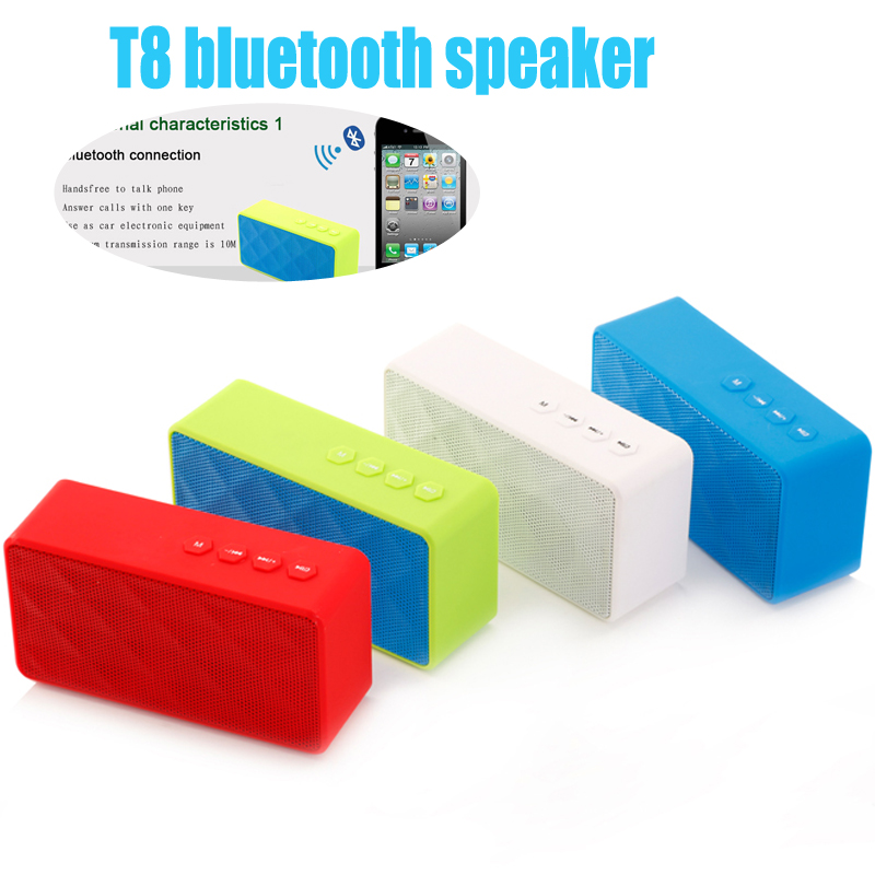 MINI T8 Bluetooth Speaker Wireless Hifi Stereo Handsfree Super Bass USB MP3 Speaker With Removable Battery For iPhone Samsung<br><br>Aliexpress