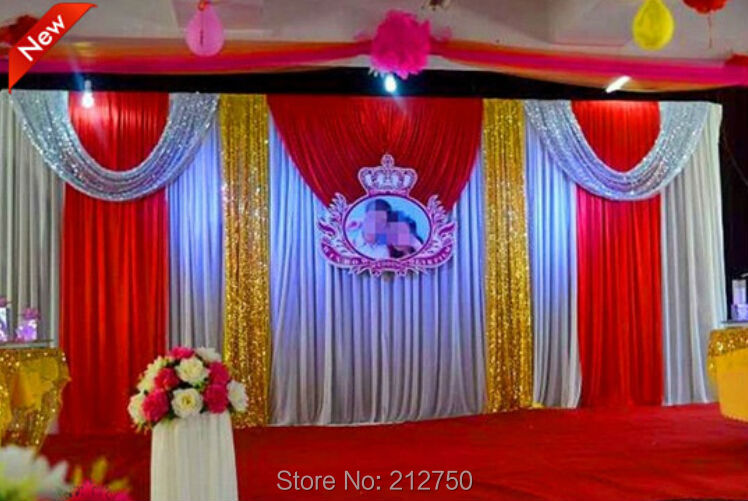 Express wedding stage decoration wedding backdrop silver gold aeproducttsubject junglespirit Gallery