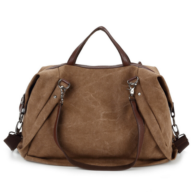 Women Canvas Handbags Big Tote Bag Shoulder Crossbody Bags For Woman Vintage Multifunctional Large Capacity Casual Hand Bag(China (Mainland))