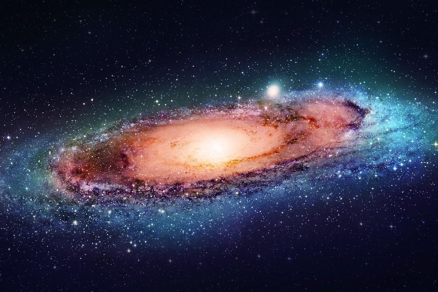 Grand Andromeda galaxy shooting stars space poster Print Waterproof Canvas Fabric art Wall Decor 12×18 inch