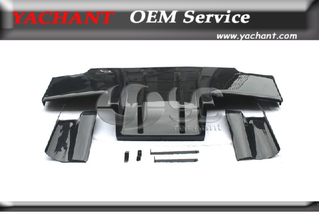 Carbon Fiber TS Style Rear Diffuser Type 2 with Metal Fitting Accessories (5pcs) Fit For 1989-1994 Nissan Skyline R32 GTR(China (Mainland))