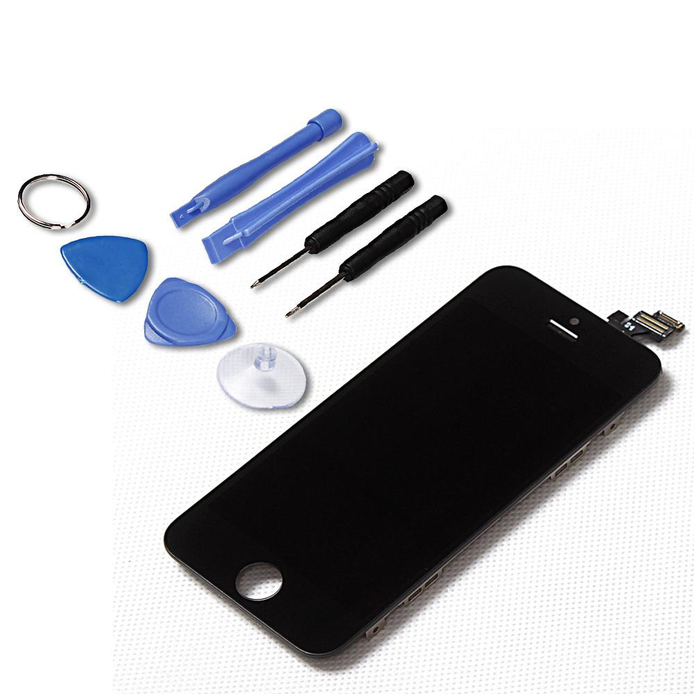 LL. Trader 100% Tested Black LCD for iPhone 5 Digitizer Display + Touch Screen Assembly Replacement  with Full Repair ToolKits