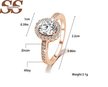 SparShine Gold Rings With BIg natural crystal Bijoux Roxi Ruby Ring For Women Fine Joyas De