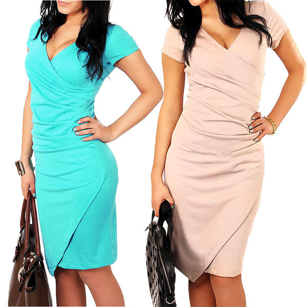 best price for Sexy Women's Summer BodyCon Asym Cotton Evening Party Dress(China (Mainland))