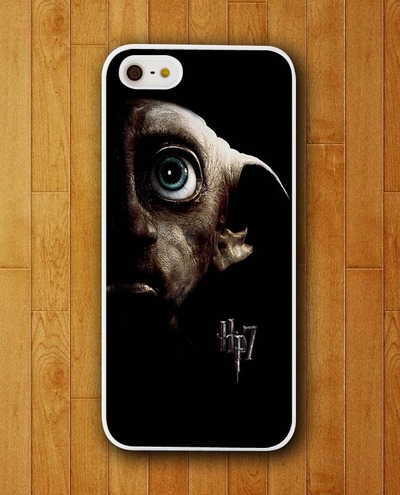 Customized Phone Case Dobby in The Dark Face Harry Potter Case for iphone 4 4s 5 5s 5c 6 6 plus Mobile Cover 2015(China (Mainland))