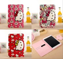 Case For ipad mini 4 Cartoon Cute Hello Kitty Cat Flip Wallet Card Holder Stand Leather Cases Sleep Cover For ipad mini 4 Bags(China (Mainland))