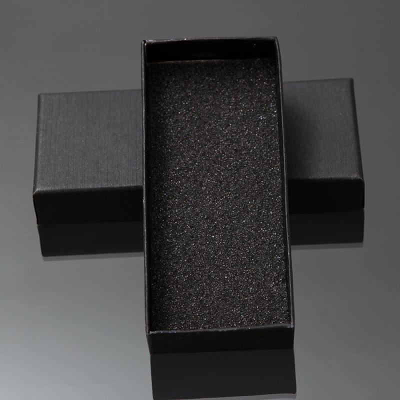 Practical Matte Black Gift Box Jewelry Key Buckle Packaging Small Cardboard Jewelry Boxes With Foam Sponge Pad Boxes For Sale