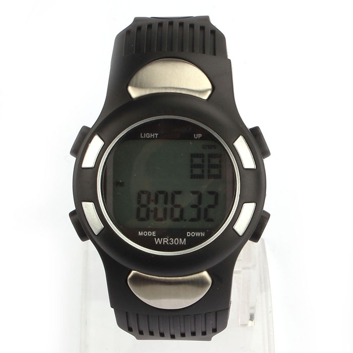 Fashion New Fitness 3D Pedometer Calories Counter Watch Pulse Heart Rate Monitor Anne<br><br>Aliexpress