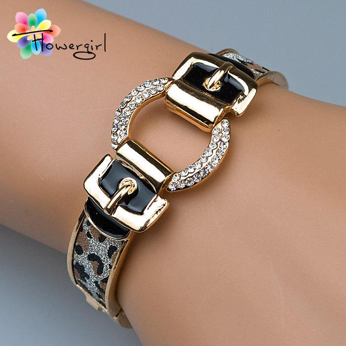 2016 new fashion belt design gold bangle bracelets for