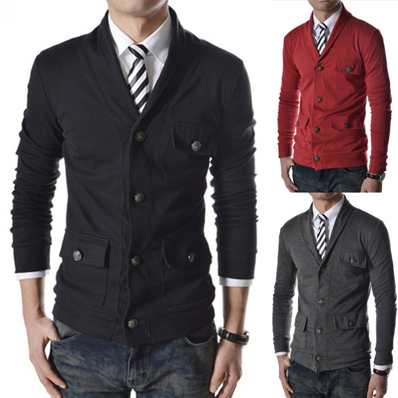 Hot!Free Shipping 2015 New Fashion Mens Slim casual blazer, Top Brand Mens suit, Designer man jacket outerwear 4 colors M~XXL(China (Mainland))