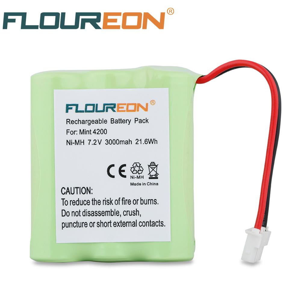 Floureon 7.2V 3000mAh Vacuum Cleaner Battery Mint 4200 for Braava 320, Braava 321, Mint 4200, Mint 4205(China (Mainland))