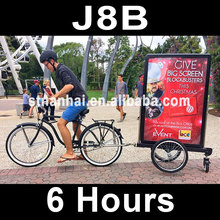 1 LOTS = 02PCS !!!  - J8B  [6hrs]  New products double faces aluminum mobile advertising LED bike trailer sign(China (Mainland))