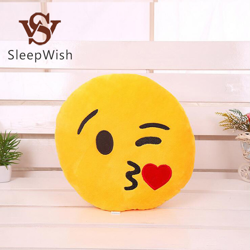 SleepWish Emoji Cushion a Lot All 21 Pattern Smiley Face Pillow Toy Soft Plush 32cmx32cm Best Sell Cushion Home Decor(China (Mainland))