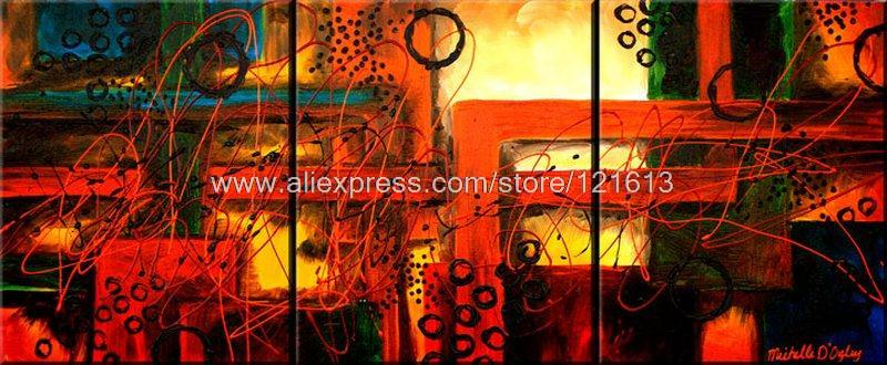 Intuition Factory Oil Painting On Canvas Discount Bar 3 Panel 3 Pcs /Set Canvas Paintings Realistic Landscape Free Shipping(China (Mainland))