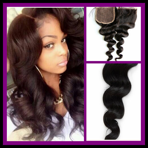 Free Shipping Brazillian Hair Loose Wave Lace Closure