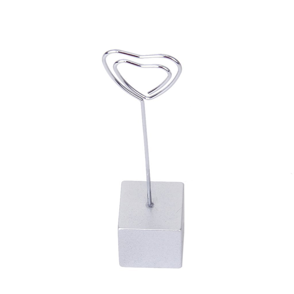 Heart-Shape Cube Card Picture Memo Photo Placement Clips Holder Desk Party Table A modern accessory(China (Mainland))