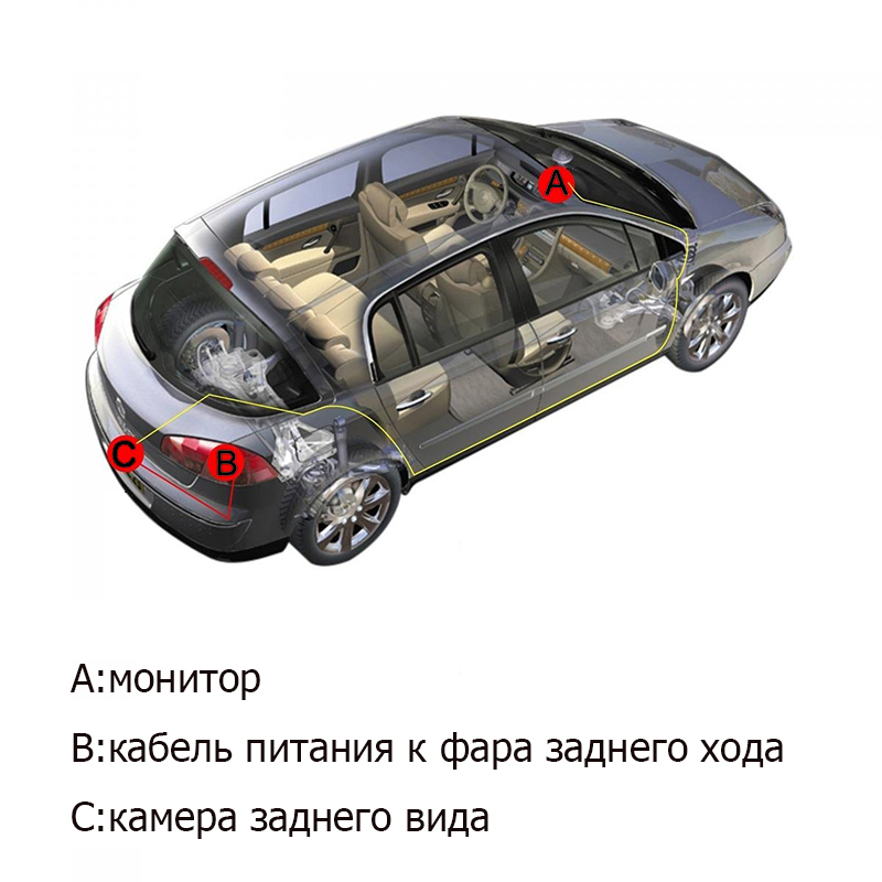 3 in1 Parking Camera Sensors Black Sensors Reversing Radar Car Rearview Rear View Camera Reversing Camera Waterproof