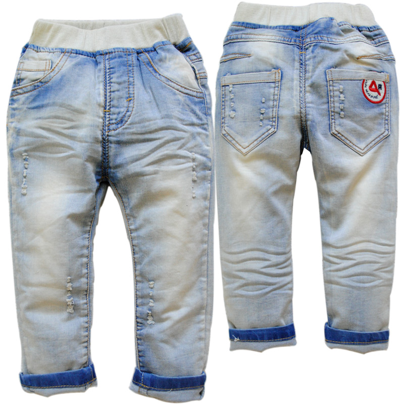 3754 upscale KIDS baby boy jeans casual pants blue solid spring autumn trousers children'S CLOTHING soft denim 2T>24M(China (Mainland))