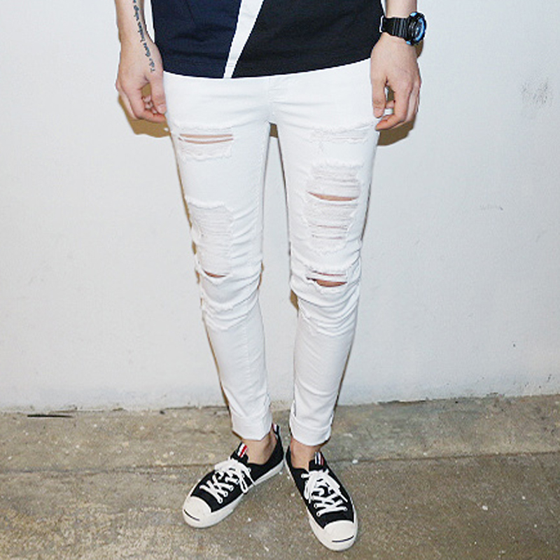 Slim White Jeans For Men - Xtellar Jeans