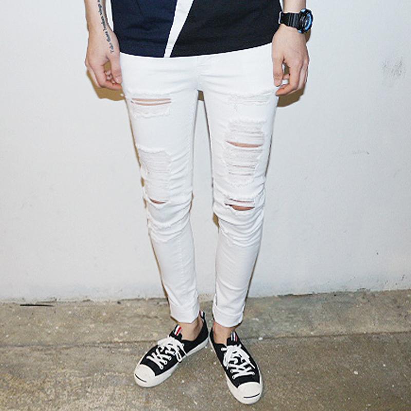 Mens White Slim Jeans - Xtellar Jeans